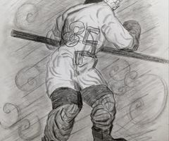 Hockey boy no. 85, drawn from imagination