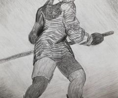 Hockey boy, 2019, drawed by imagination